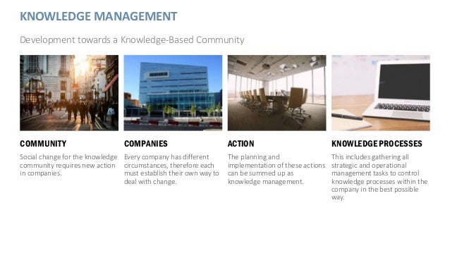 COMMUNITY Social change for the knowledge community requires new action in companies. COMPANIES Every company has differen...