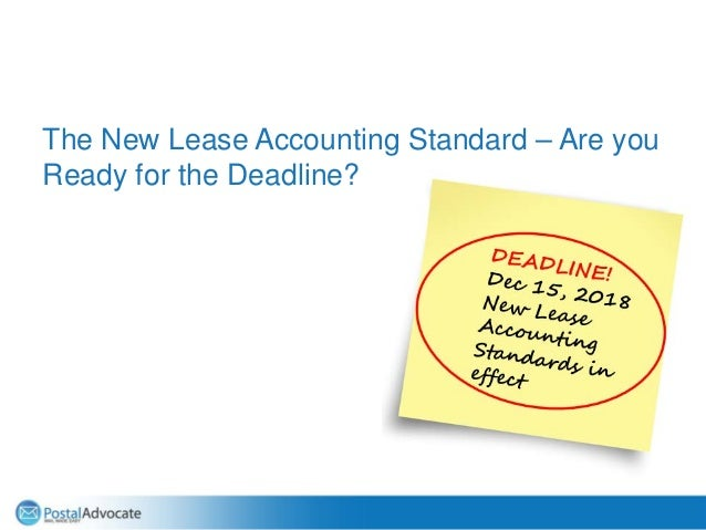 The New Lease Accounting Standard – Are you Ready for the Deadline?
