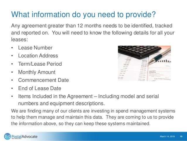 What information do you need to provide? Any agreement greater than 12 months needs to be identified, tracked and reported...