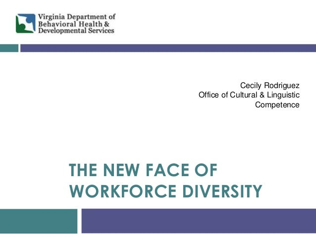 THE NEW FACE OF WORKFORCE DIVERSITY  Cecily Rodriguez  Office of Cultural & Linguistic Competence