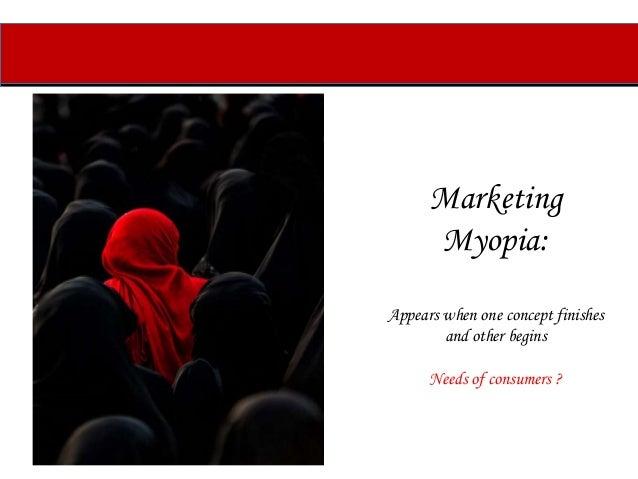 marketing myopia examples