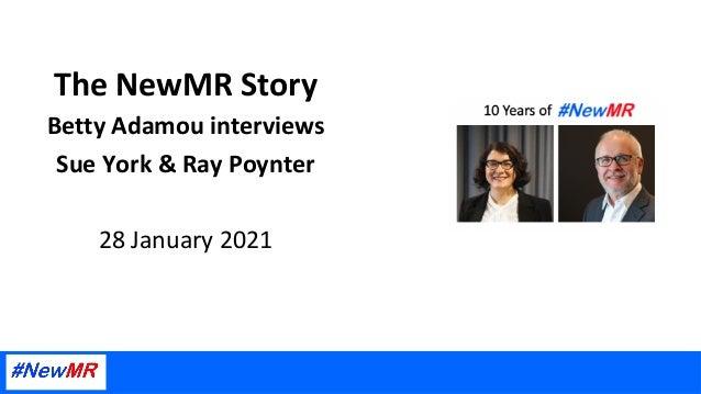TheNewMRStory BettyAdamouinterviews SueYork&RayPoynter  28January2021