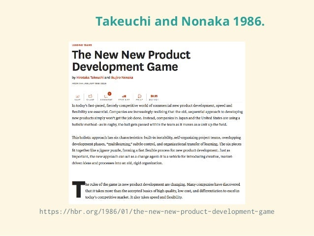 The new new product development game for New product design and development