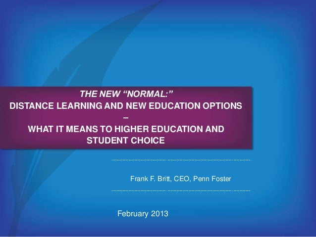The New Normal Distance Learning And New Education Options