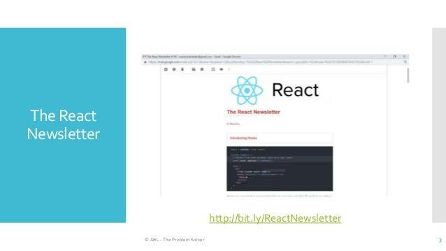 The new React  Slide 3