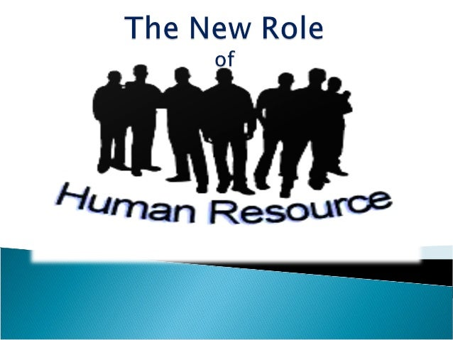 changing role of human resource management