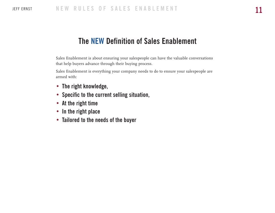The new rules of sales enablement ebook 11 fandeluxe Gallery
