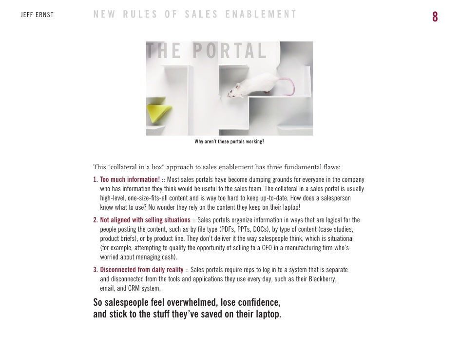 The new rules of sales enablement ebook this collateral in a box approach to sales enablement has three fundamental flaws 1 too much information most sales portals have become dumping fandeluxe Ebook collections