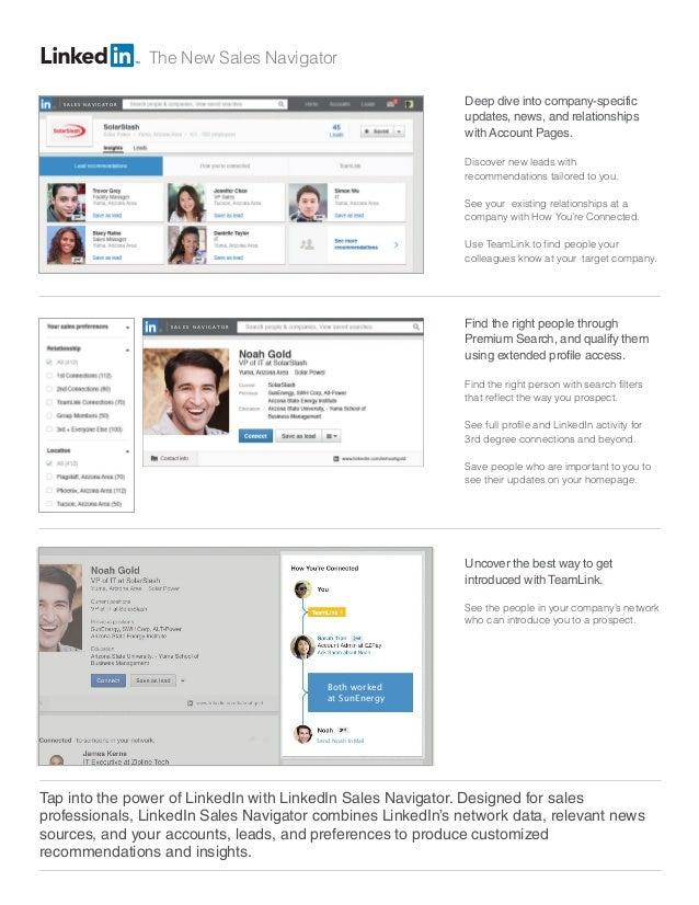 linkedin sales navigator data sheet