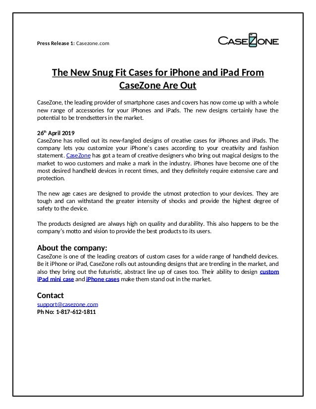 The New Snug Fit Cases for iPhone and iPad From CaseZone