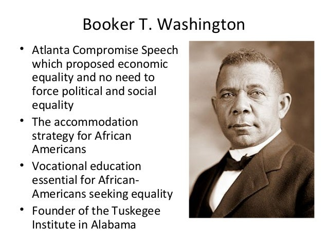 "atlanta compromise This speech, which is often called the ""atlanta compromise,"" was the first speech given by an african american man in front of a racially mixed audience in the south."