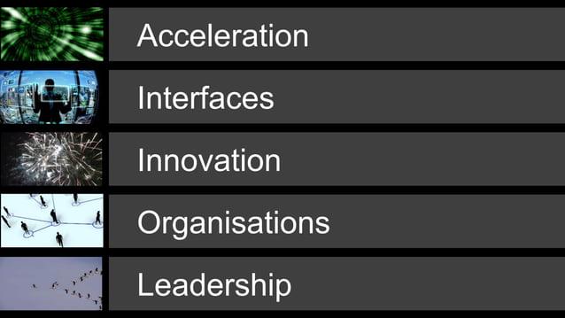Acceleration Leadership Interfaces Organisations Innovation