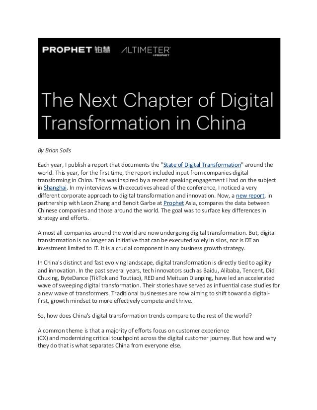 """By Brian Solis Each year, I publish a report that documents the """"State of Digital Transformation"""" around the world. This y..."""