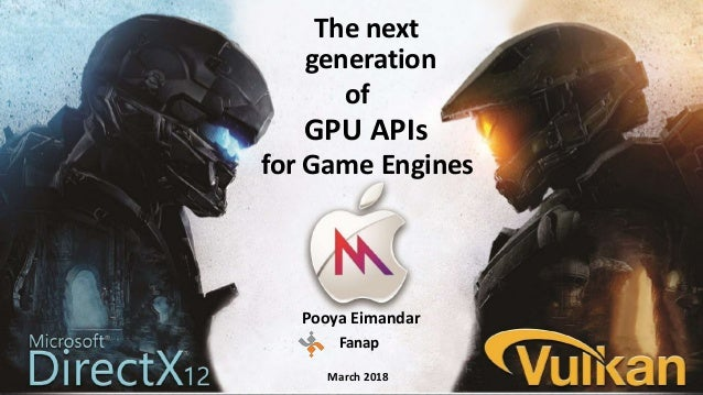The next generation of for Game Engines GPU APIs Pooya Eimandar Fanap March 2018