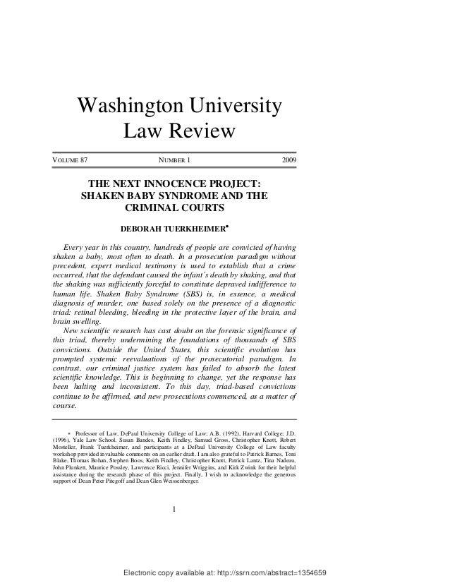 Washington University              Law ReviewVOLUME 87                                  NUMBER 1                          ...