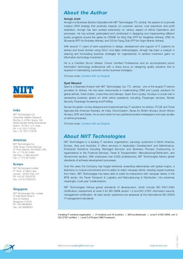 D_62_170414 Write to us at marketing@niit-tech.com www.niit-tech.com NIIT Technologies is a leading IT solutions organizat...