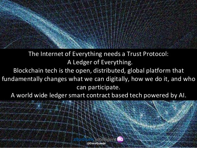 @DinisGuarda As electricity changed all the infrastructure of society, IOT and blockchain are operating the same revolutio...