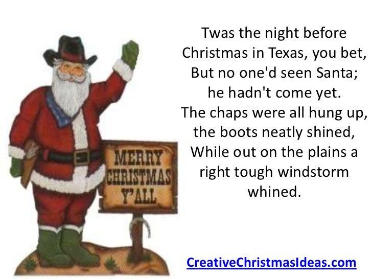 ... night Before Christmas, Texas Style! 2.