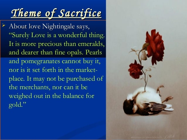 the nightingale and the rose short story