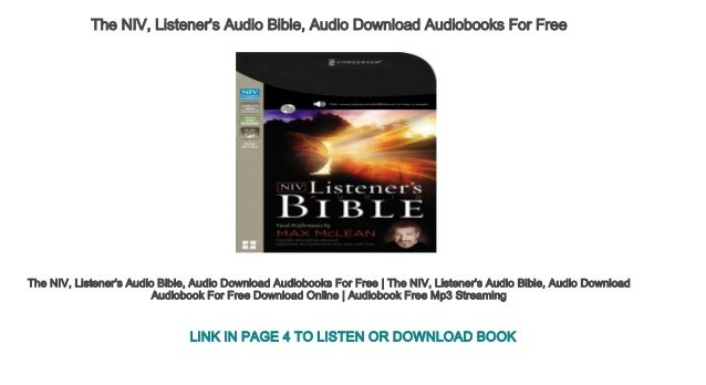 The NIV Listeners Audio Bible Download
