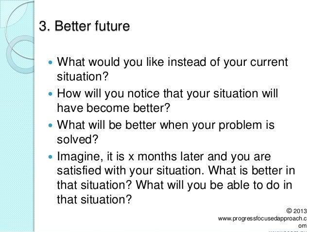 The noam 7 steps approach of progress focused work
