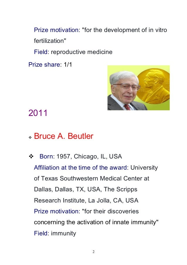 The nobel prize in physiology or medicine 2010 2014