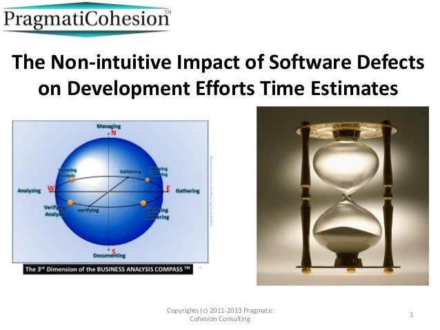The Non-intuitive Impact of Software Defects  on Development Efforts Time Estimates                Copyrights (c) 2011-201...