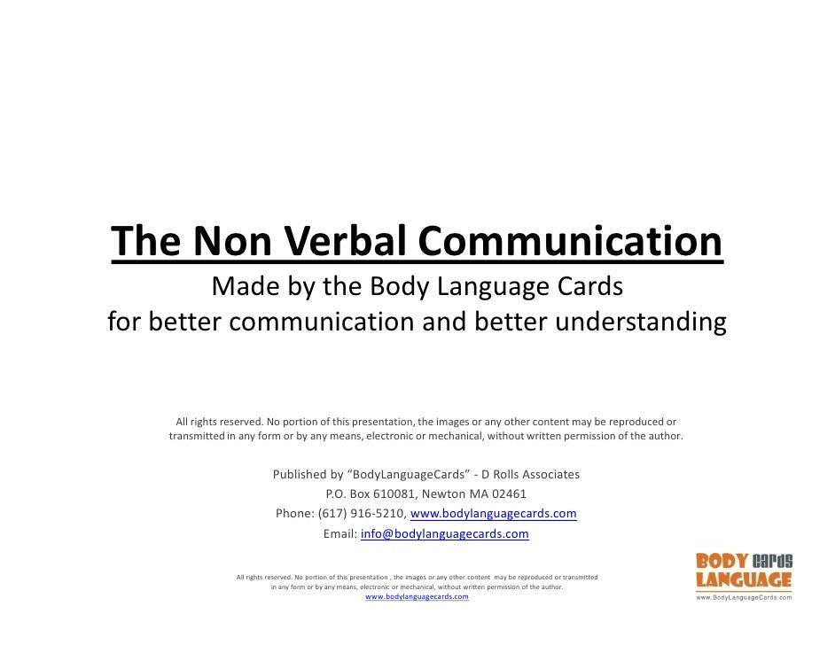 non verbal body language In this class, the power of body language with vanessa van edwards, you'll learn to command a room with your verbal and non-verbal.