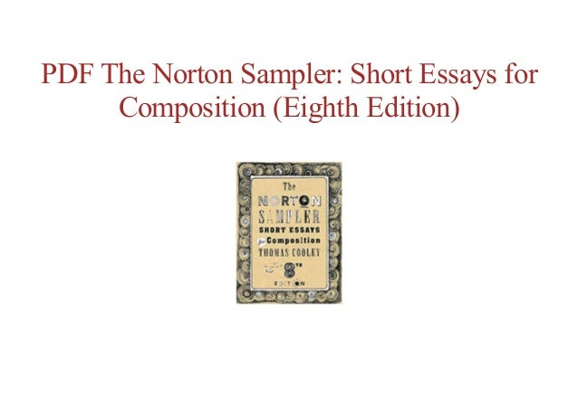 Free online the norton sampler: short essays for composition (eight….
