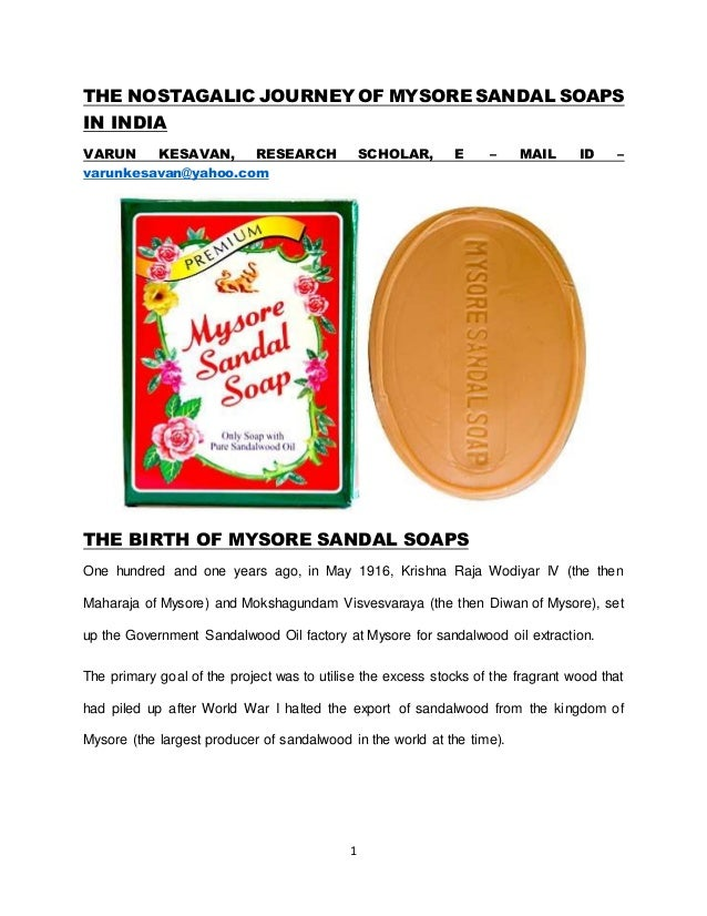 mysore sandal soap marketing strategy