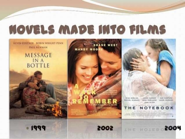 the notebook  4 about the novel • the notebook is a 1996