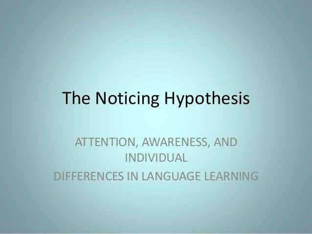 noticing hypothesis
