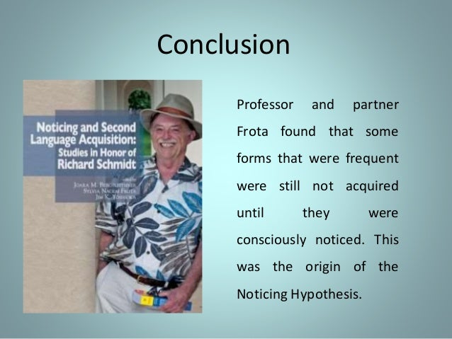 noticing hypothesis The output hypothesis: its history and its future merrill swain the noticing/triggering function 2) the hypothesis-testing function 3) the metalinguistic (reflective) the output hypothesis was descriptive in nature.