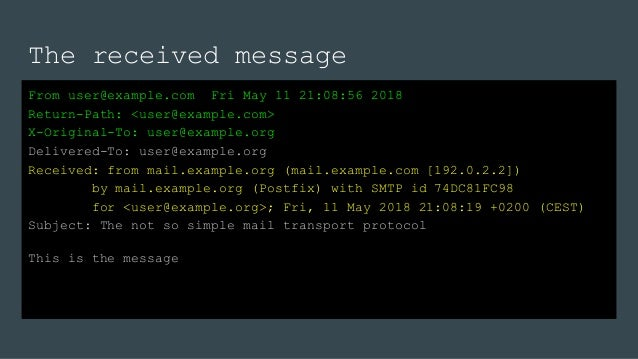 The not so simple mail transport protocol @dpcon 2018