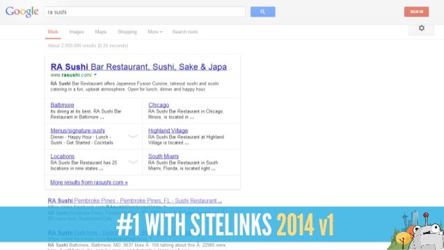 #1 WITH SITELINKS 2014 v1