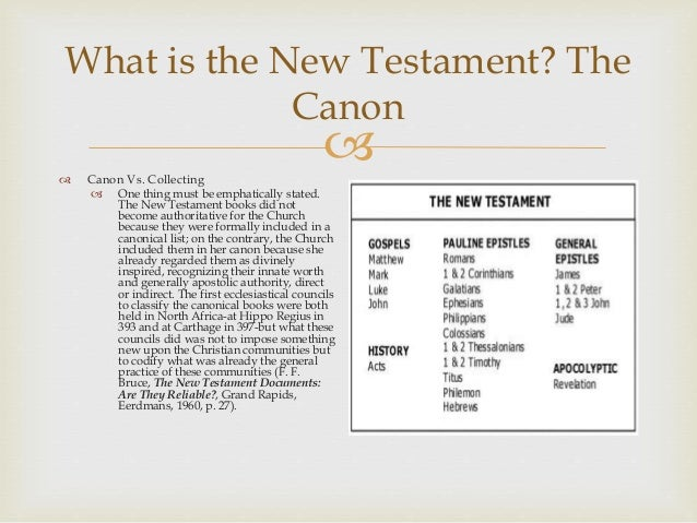 an introduction to the principles of new testament canon God's providence gave us the 27 book new testament canon, not the church   introduction:  the councils of the church played little part in the canonization of  scripture  collection made by the church, but in the source from which they  came, then the new testament was in principle complete when the various  elements.