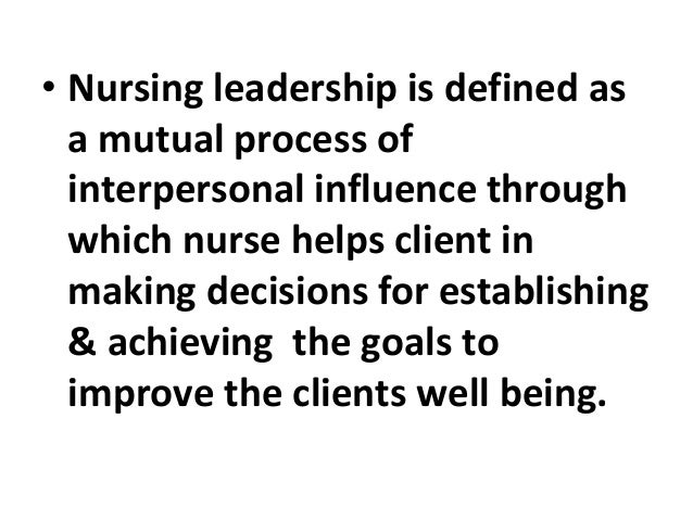 The nurse's role in health care services