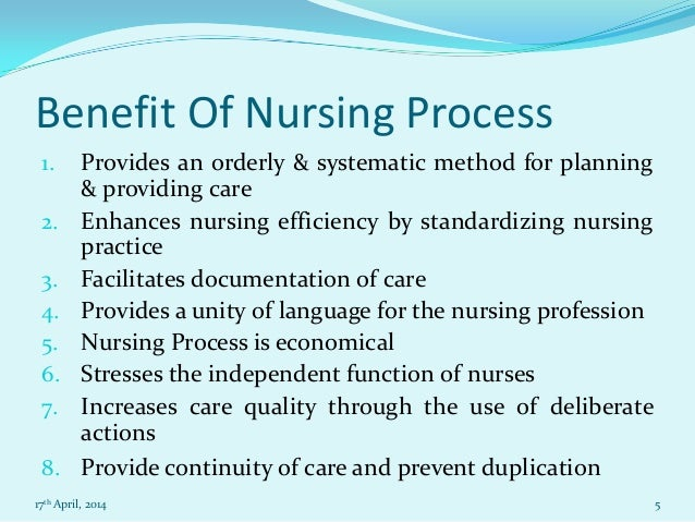 nursing essay on nursing process  5 benefit of nursing process