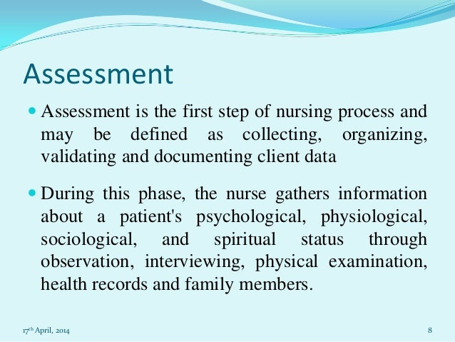 nursing essay on nursing process assessment  assessment