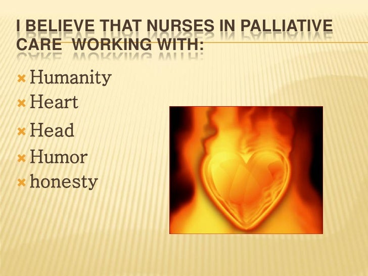 the role of palliative care Home » i'm a health professional print this page i'm a health professional find the nearest palliative care service for your patient, see the directory of services health care professional's role in palliative care.