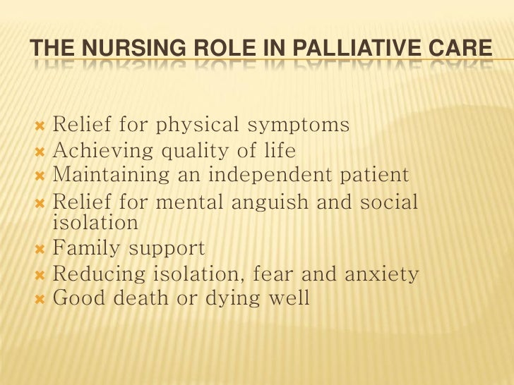 Palliative care essay