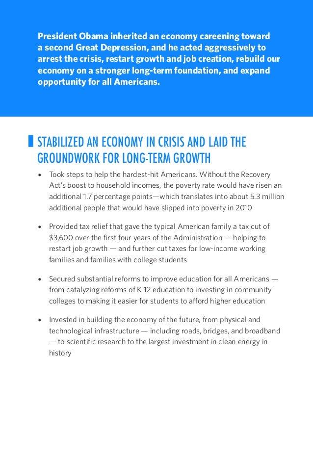 The Obama Record 2009-2017 - Economic Progress