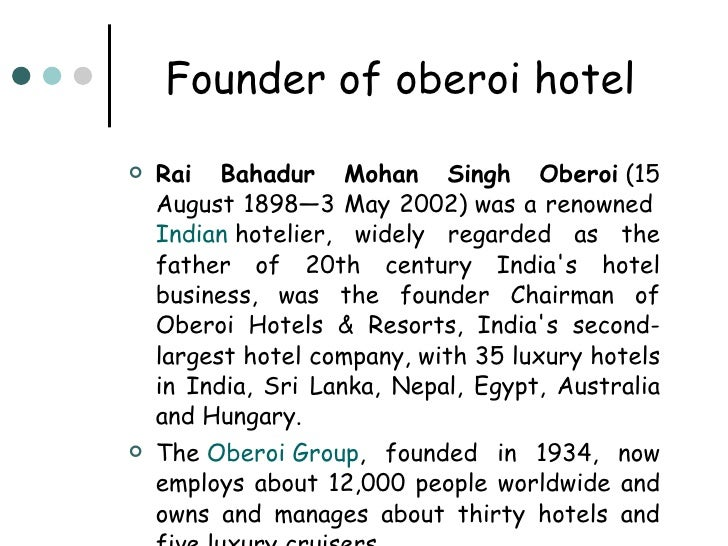 The Oberoi Hotels