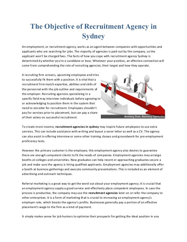 The Objective Of Recruitment Agency In Sydney An Employment, Or Recruitment  Agency, ...  Employment Objectives