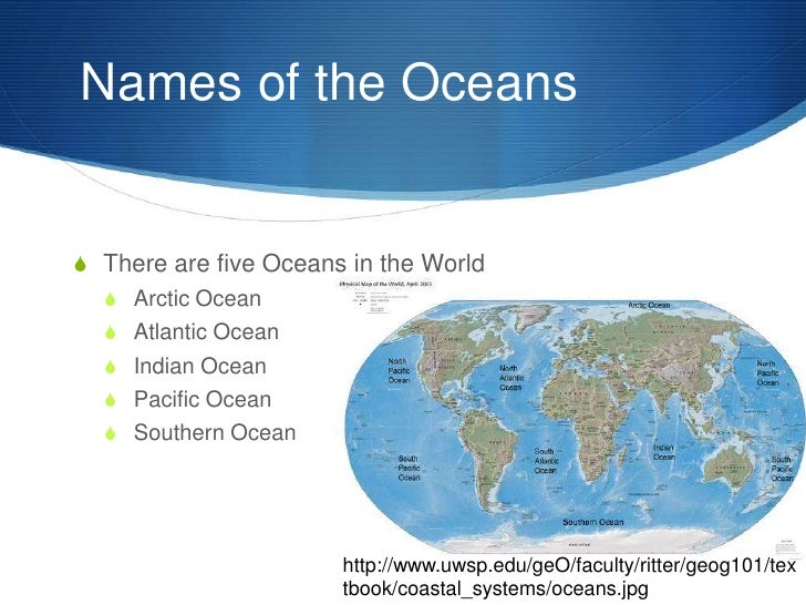 The Ocean Name And Locate The Five Oceans By Laurenstuart - World mahasagar name