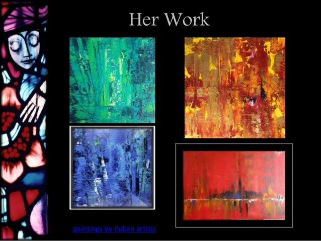 Her Work Paintings By Indian Artists