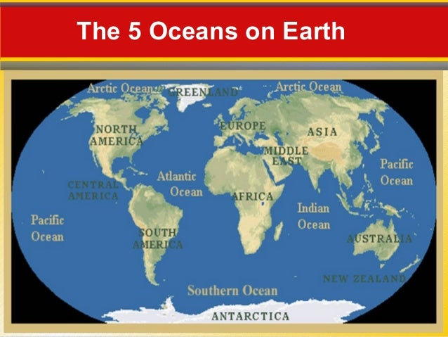 The Oceans Composition - The five major oceans