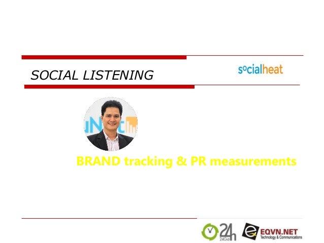 SOCIAL LISTENING BRAND tracking & PR measurements