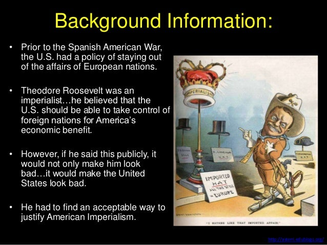 the background of the spanish american war An updated and revised short history of the causes and effects of the spanish-american war background the virtual the spanish fleet.