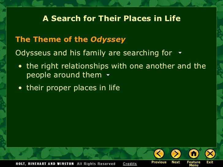 what is the tone of the odyssey
